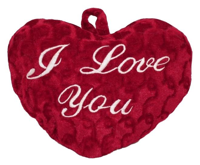 Herz rot mit Schrift -I love you - ca 30cm