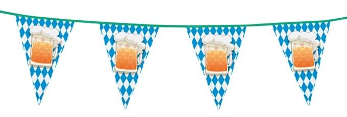 Wimpelkette Oktoberfest ca 6 Meter