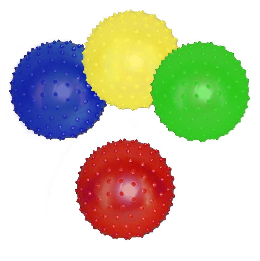 Noppenball Stachelball aufblasbar 4-farbig sortiert ca 10cm