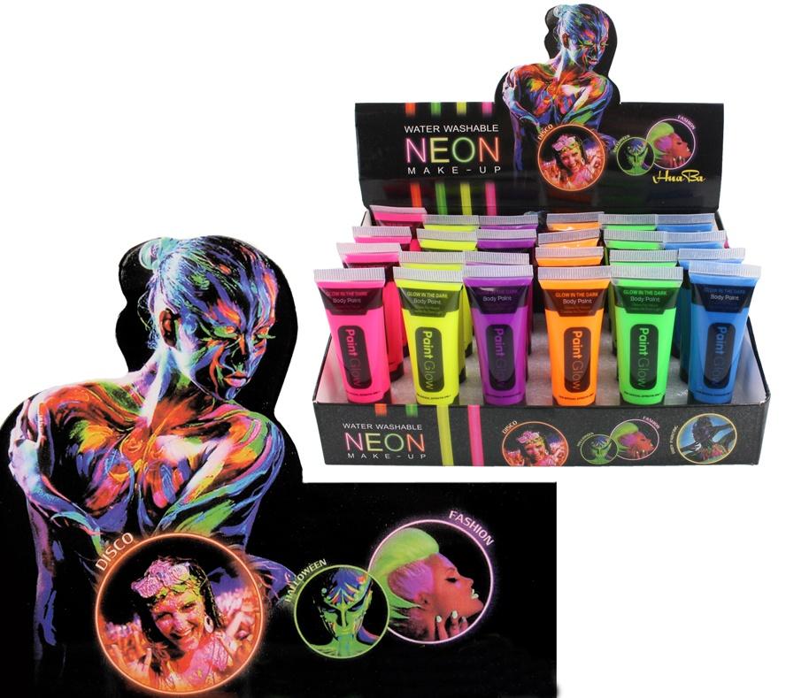 Schminke Neon Make-Up 6-fach sortiert - 14,2 ml