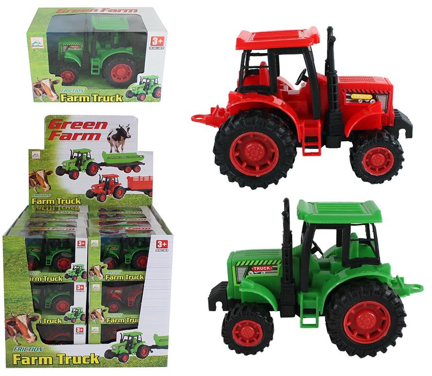 Farmtraktor grün  mit Friktion in Box ca 14x8,5x7cm