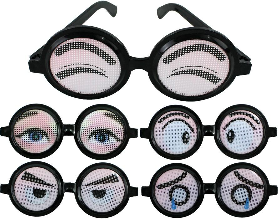 Spaßbrille 5-fach sortiert ca 15 cm