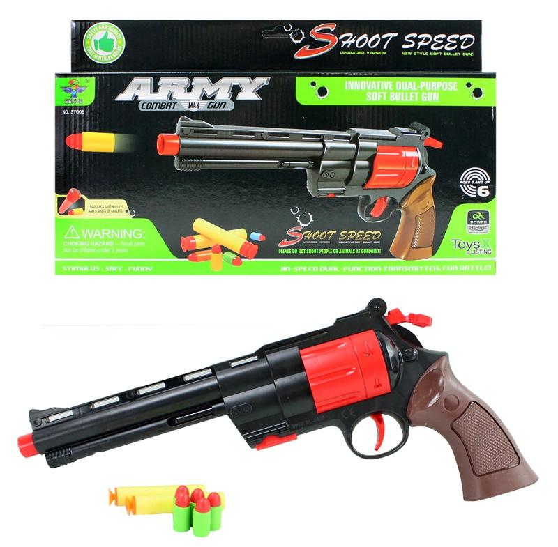 Pistole Soft Bullet für Softdarts und Softpatronen ca 36cm
