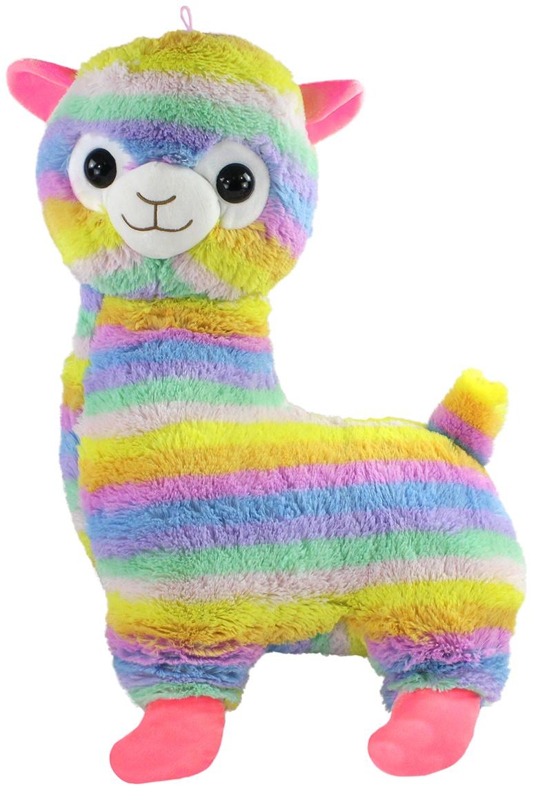 Alpaka Lama stehend regenbogenfarbig ca 75cm