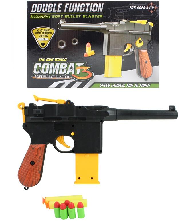 Pistole Soft Bullet für Softdarts und Softpatronen - ca 29
