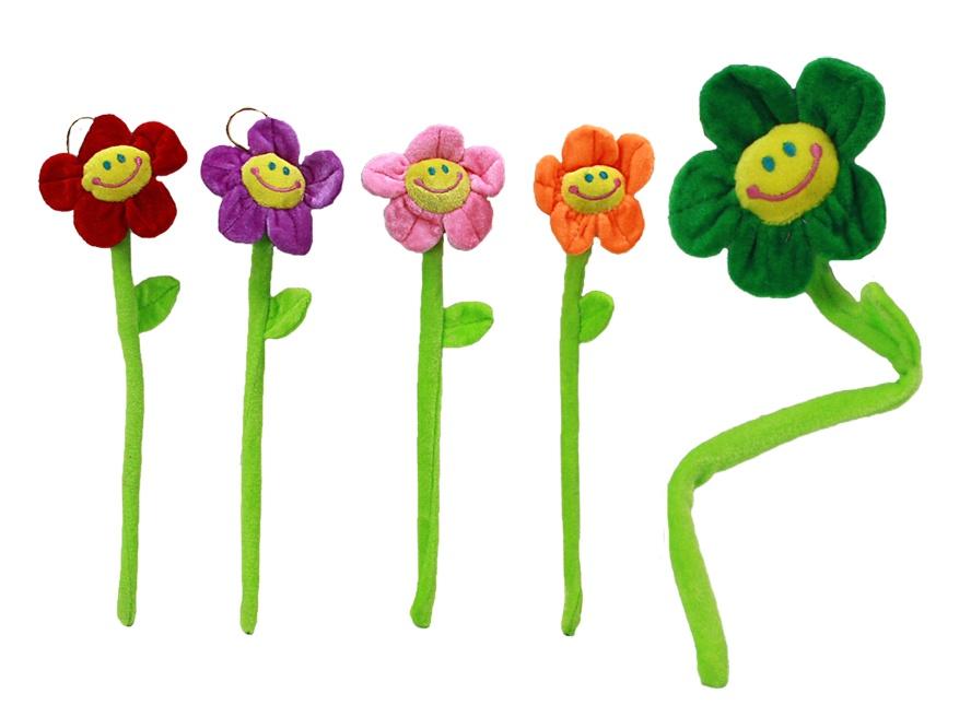Blume Plüsch - lachend - 5-fach sortiert - ca 36cm