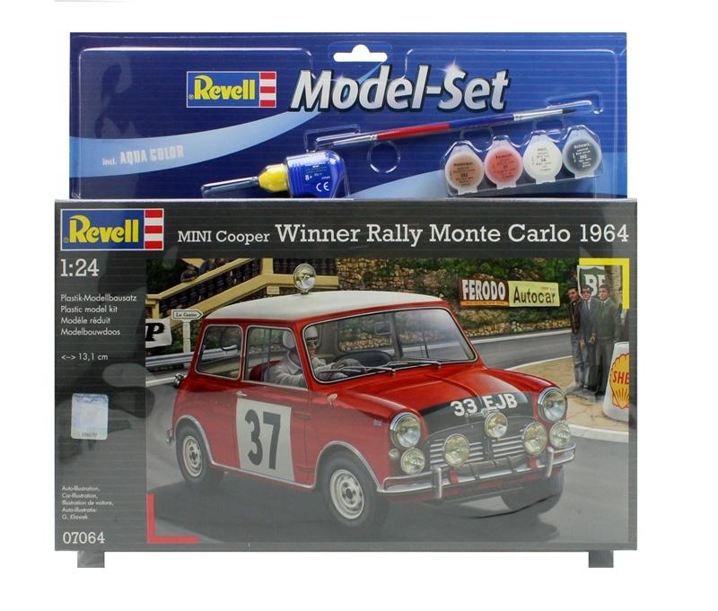 REVELL Modellbausatz Mini Cooper Rallye Monte Carlo 1964