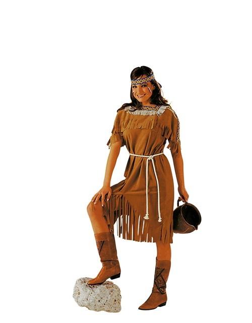 Indianerin Kleid und Kordel Größe 38/40