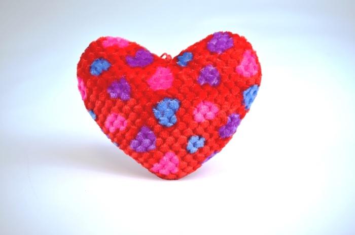 Plüsch Herz