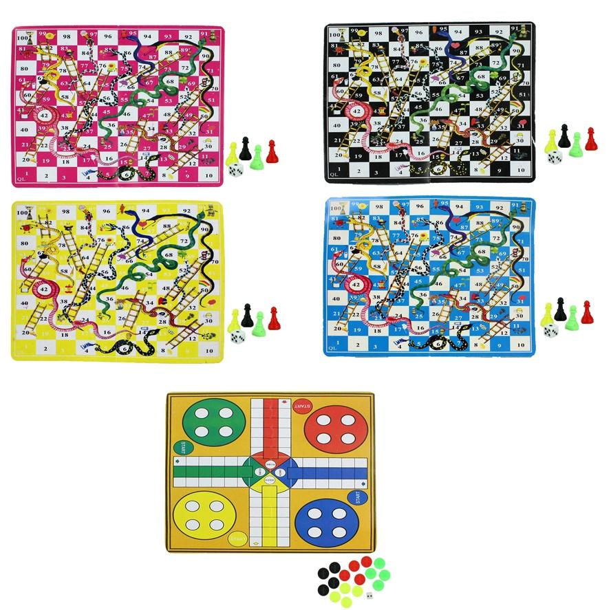 Spiel Schlangen- und Ludo Spiel sortiert ca 16,5 x 9 cm