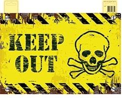Türschild Keep Out - ca 48x32cm
