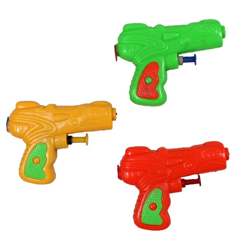 Wasserpistole 3 farbig sortiert ca 10 cm