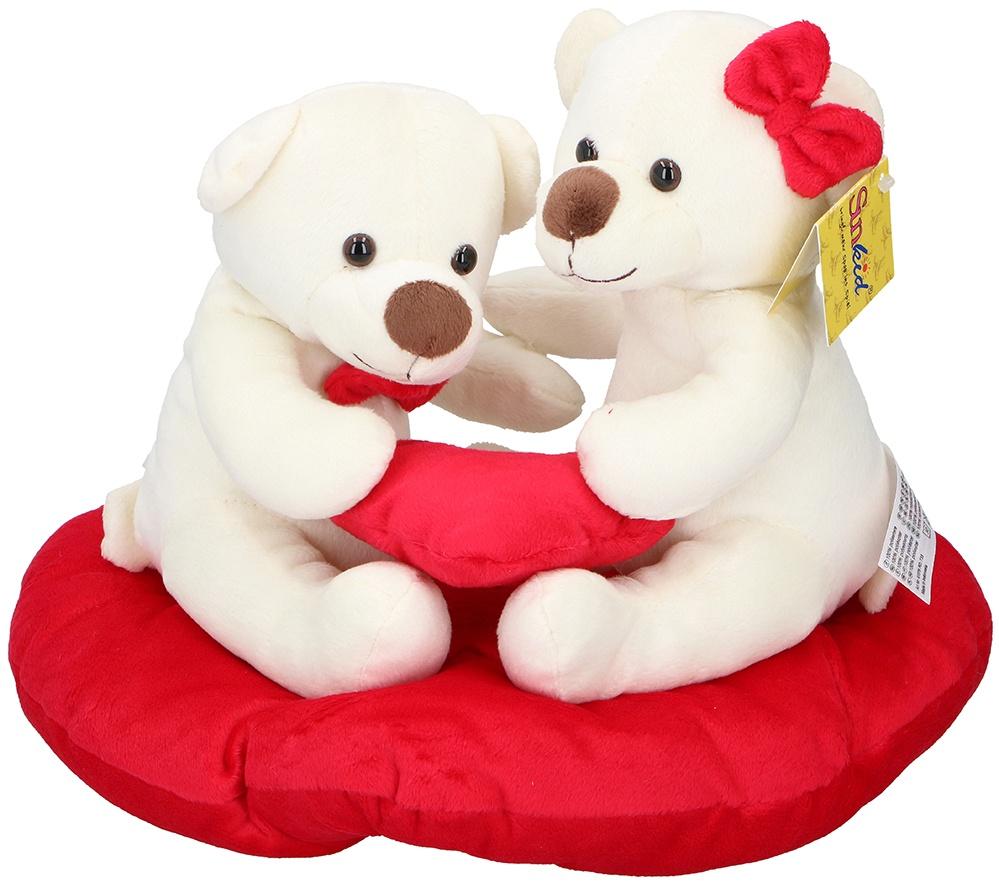 SUNKID Plüsch Herz mit 2 Bären - gesamt ca 30x25x22cm