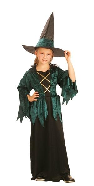 Kostüm - Hexe gothic luxe für Kinder - ca 4-6 Jahre