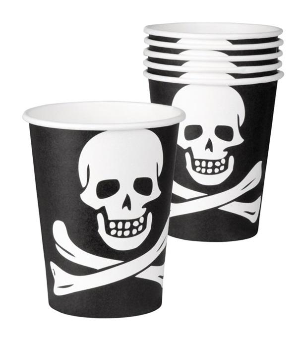 Becher - Pirat 6 Stück - ca 25 cl