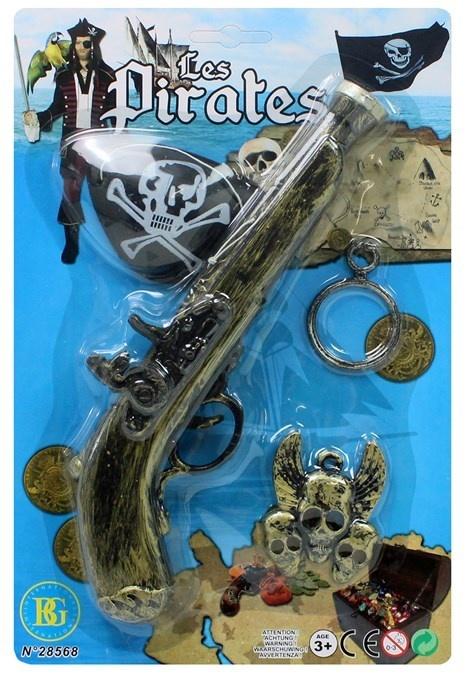 Pistole Pirat mit Sound und Zubehör - auf Karte ca 29x19cm