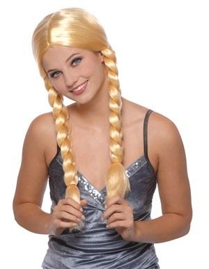 Perücke - Zöpfe blond