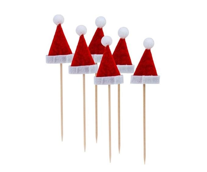 Picker Weihnachtsmann Mütze 6 Stück - ca 13cm