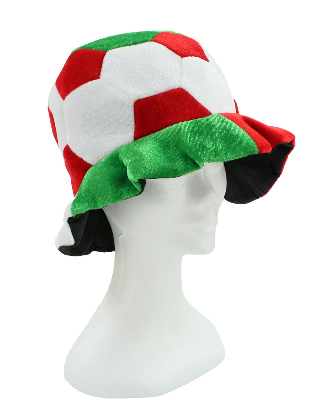 Fan Mütze rot weiß grün Fußballdesign