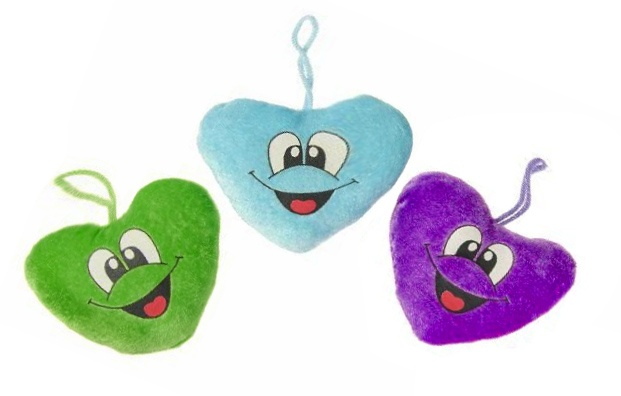 Herz mit lustigem Gesicht 3-fach sortiert - ca 11cm