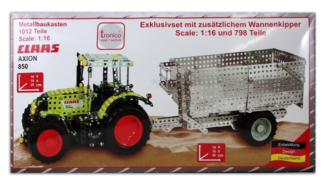 Claas Axion850 Metallbaukasten 1810 Teile in Box ca 60x31cm