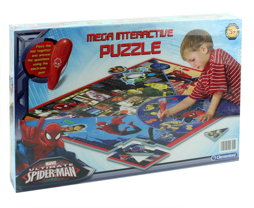 Clementoni Spider Man interaktives Puzzle in Box ca42x28x6cm