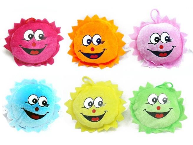 Sonne 6-fach sortiert mit lachendem Gesicht ca 11 cm
