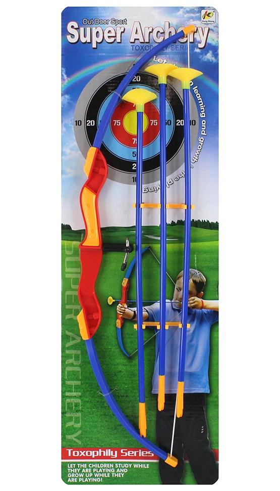 Pfeil und Bogenset mit Pfeilauflage ca 57 cm