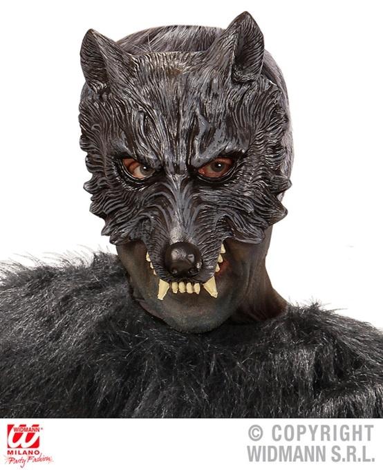 Maske Wolf kinnlos Latexschaum