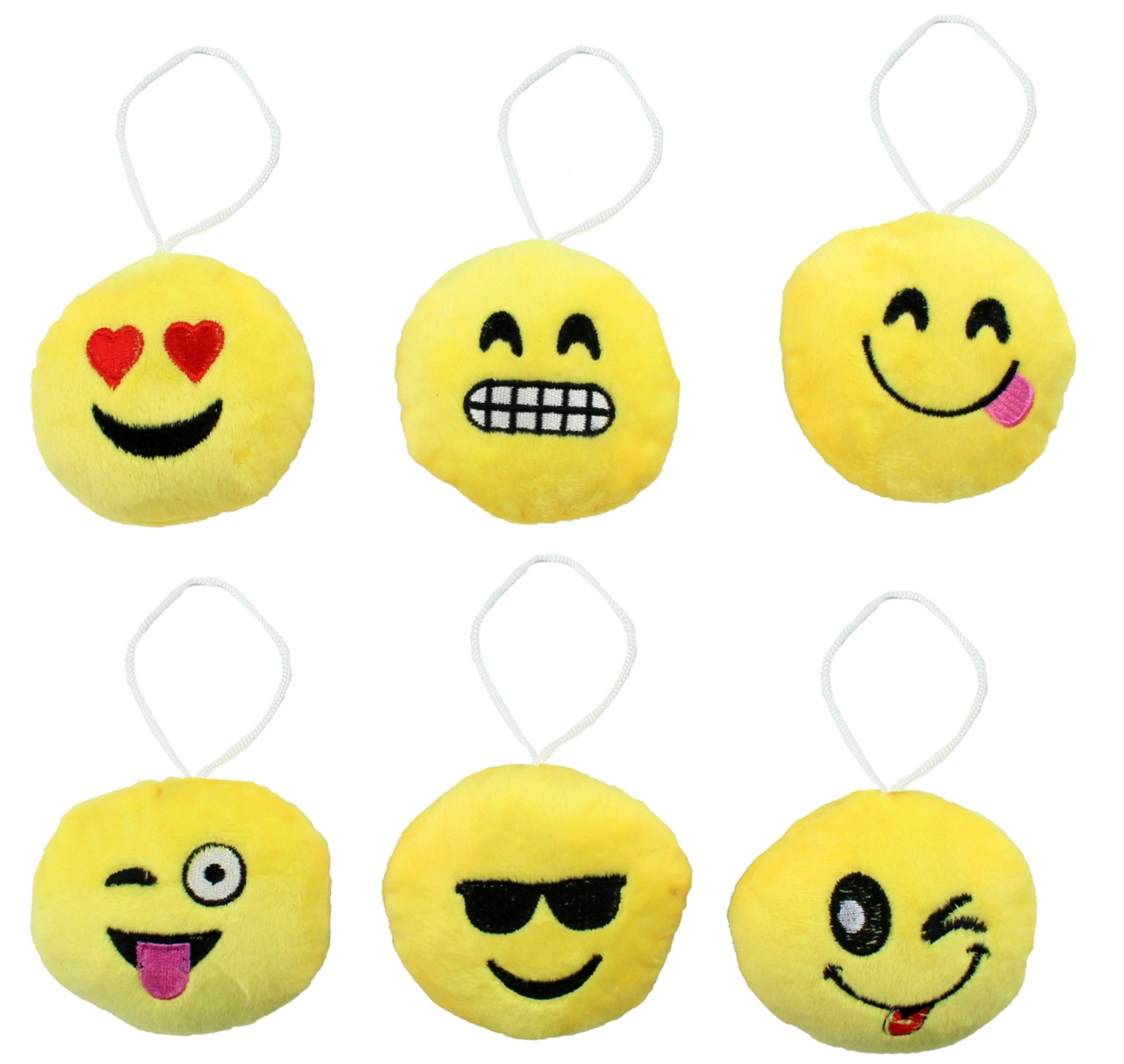 Kissen Smile Emoticon 6-fach sortiert ca 9 cm