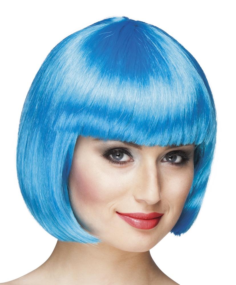 Perücke Cabaret  icy blau