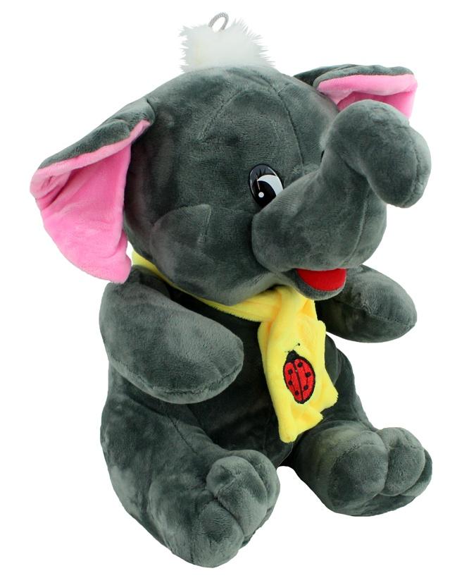 Elefant sitzend mit Schal ca 32 cm