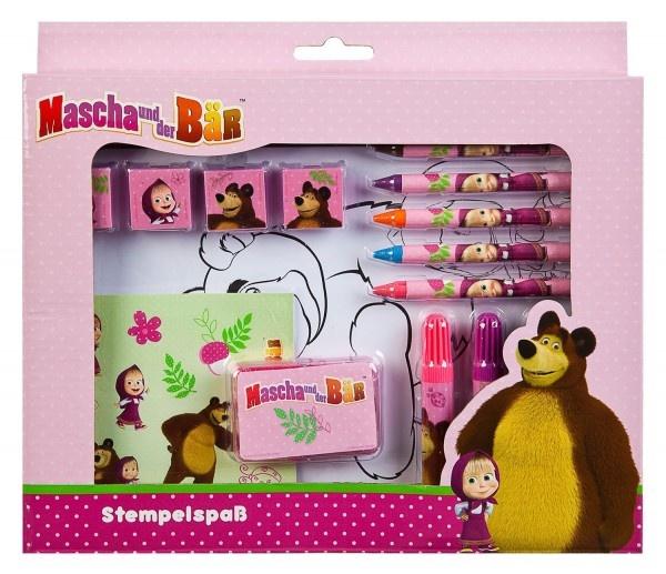 Stempelspass Set Mascha und der Bär in Box ca 26x22x4cm