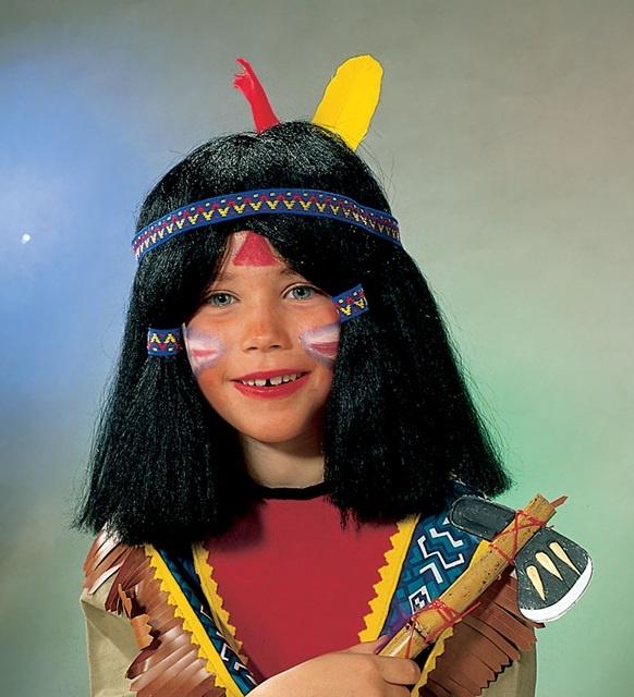 Kd.-Indianerperücke, schwarz