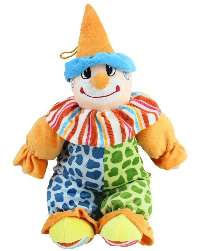 Clown bunt mit gesticktem Gesicht - ca 50 cm