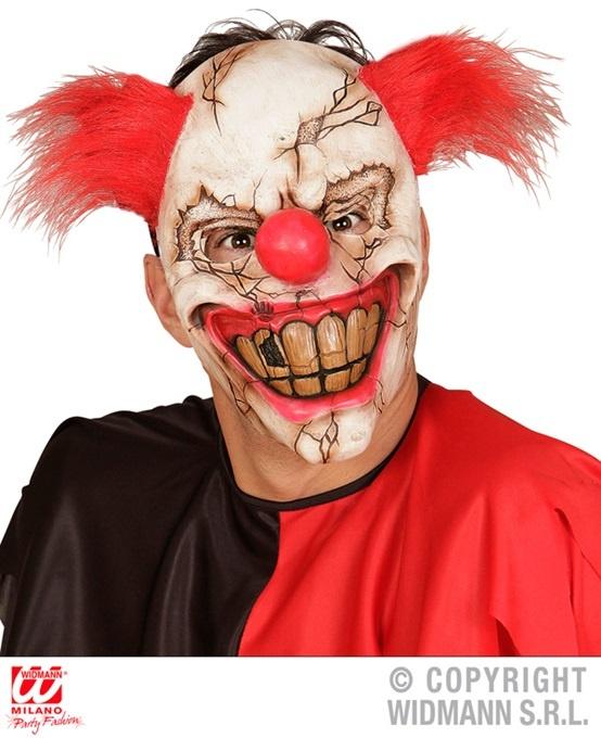 Maske Killer Clownmaske mit Haaren