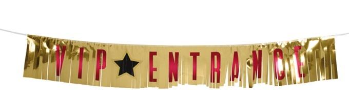 Banner Lametta VIP ENTRANCE - ca 21x150cm