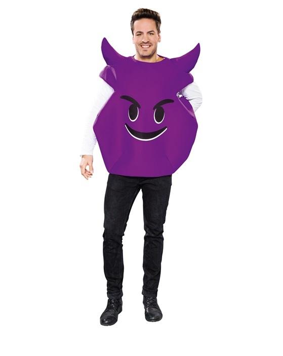 Emoticon böse und gemein, lila Teufel