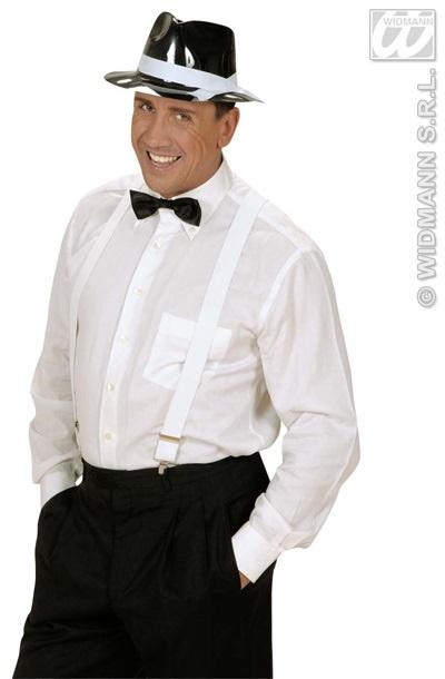 Hut - Gangster PVC schwarz mit weißem Band