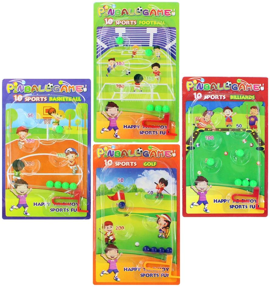 Geduldspiel Flipperspiel Sport 4-fach sortiert ca 15,5x9,5cm