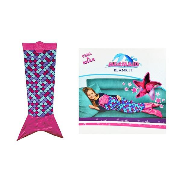 Decke für Kinder Meerjungfrau - ca 138 cm