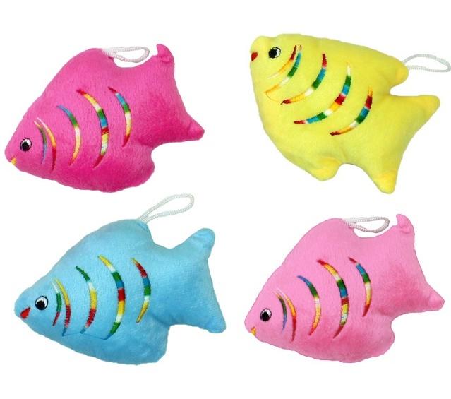 Plüsch Fische farbig sortiert ca 13 x 9 cm