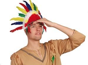 Indianer -  Kopfschmuck ca 59x33 cm