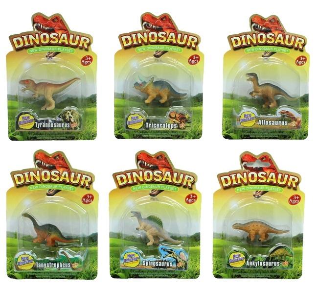 Dinosaurier 6 fach sortiert auf Karte ca 18,5x13cm