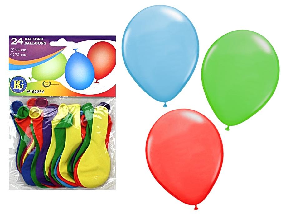 Ballons ca 75 cm Umfang - 24 Stück im Beutel ca 20x14cm
