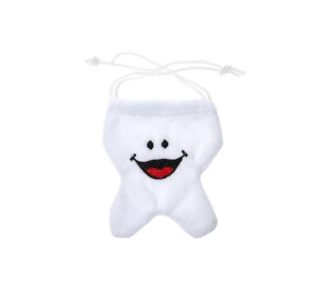 Beutelchen in Zahnform ca 9x8cm