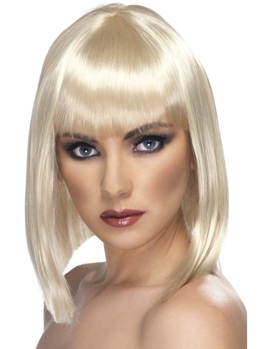 Perücke Poyfrisur fransig  Blond