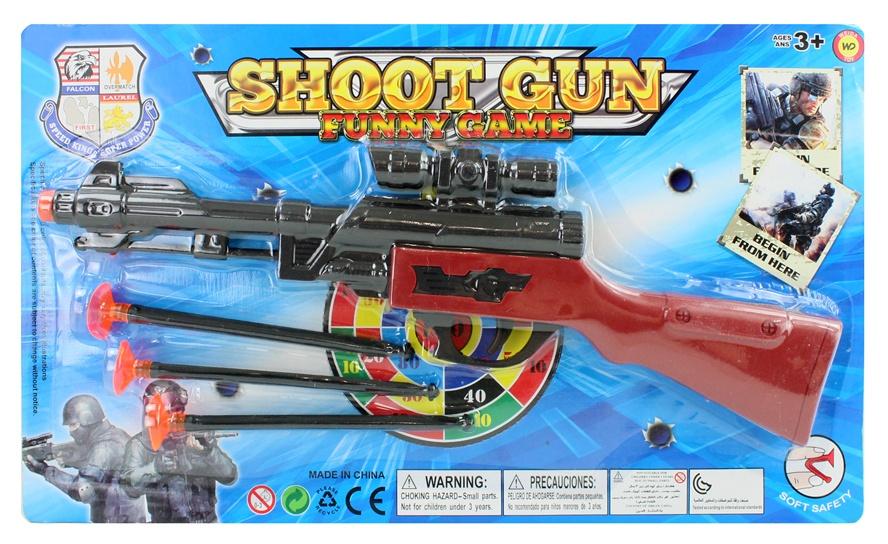 Gewehr mit 3 Pfeilen  auf Karte ca 36x21cm