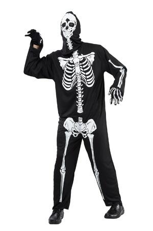 Kostüm - Skelett Tänzer luxe Größe M/L