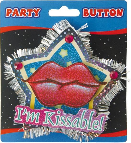 Brosche - Button- 3D  ,Im Kissable ca 12x11cm